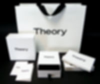 Theory custom printed shopping bags, boxes
