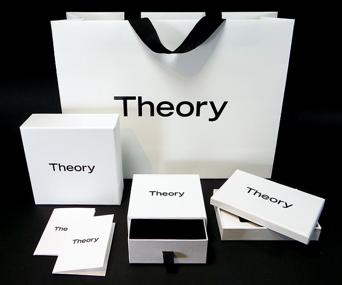 Theory custom printed shopping bags, specialty boxes, gift boxes by Commonwealth Packaging Co.