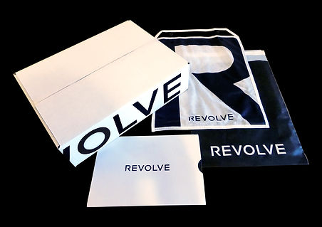 Revolve E-Commerce Custom Shipping Box, Custom Receipt holder, E-Commerce Packaging by Commonwealth Packaging Co.