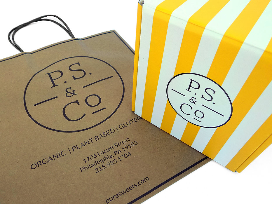 PS &Co Custom Printed Hospitality Packaging, Take-Out Bags, Custom Bakery Boxes, Specialty Packaging by Commonwealth Packaging Co.