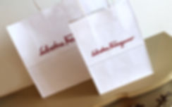 Custom Printed Shopping Bags for Ferragamo by Commonwealth Packaging Co.