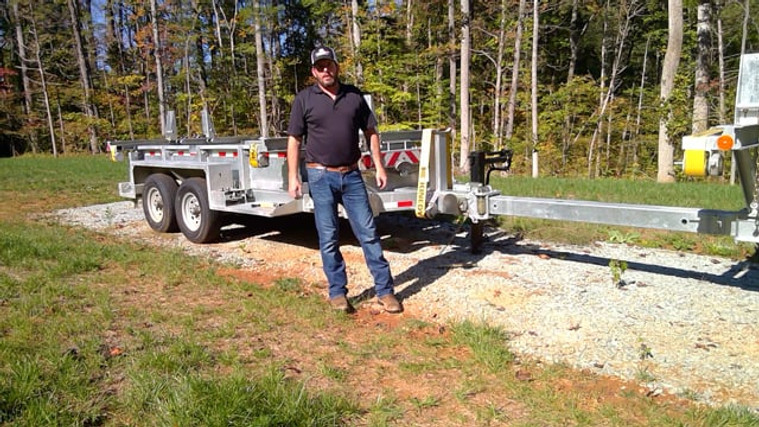 Chris Rogers from Utility Service Agency (USA) Demo's our Combination Dump, Pole, Reel, Cargo Trailer