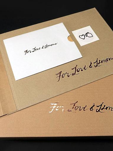 Custom printed E-Commerce Packaging For Love & Lemons by Commonwealth Packaging Co.