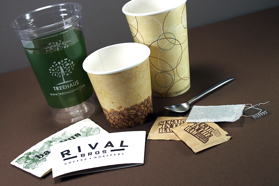 Custom printed coffee sleeves, Hospitality Packaging by Commonwealth Packaging Co.
