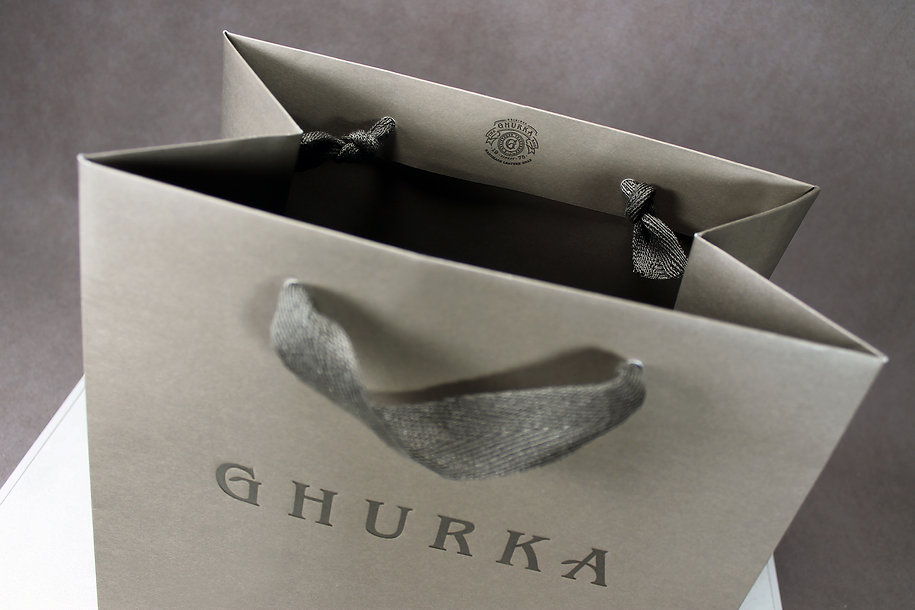 Custom Printed Shopping Bags for Ghurka by Commonwealth Packaging Co.