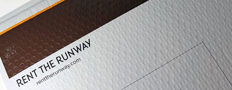 Rent the Runway Custom Padded Mailer, E-Commerce Packaging by Commonwealth Packaging Co.
