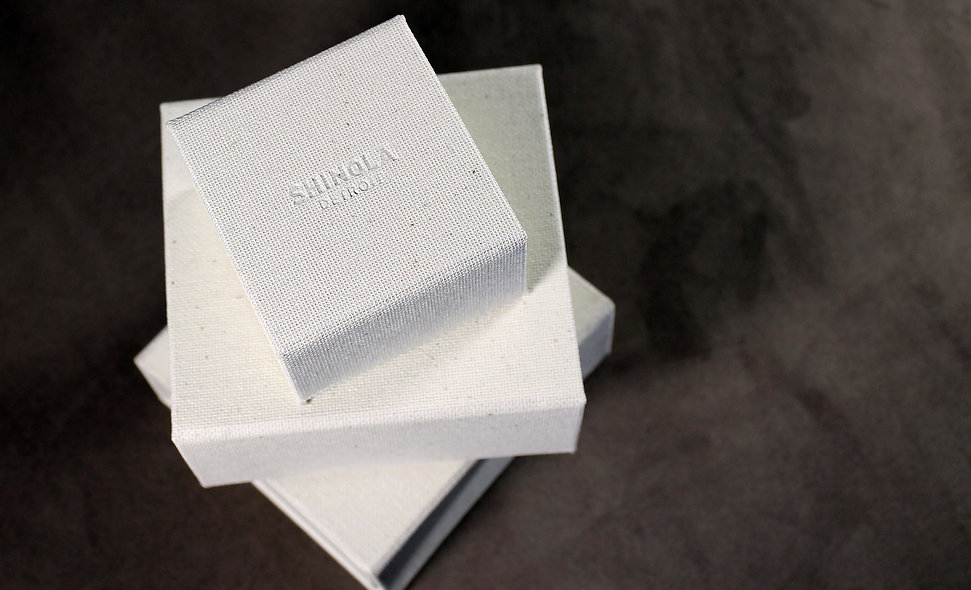 Shinola custom specialty boxes by Commonwealth Packaging Co.