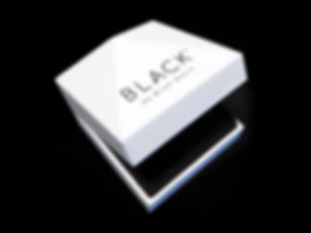 Black by Brian Gavin custom printed jewelry box by Commonwealth Packaging Co.
