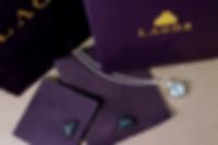 Lagos custom jewelry pouches, box