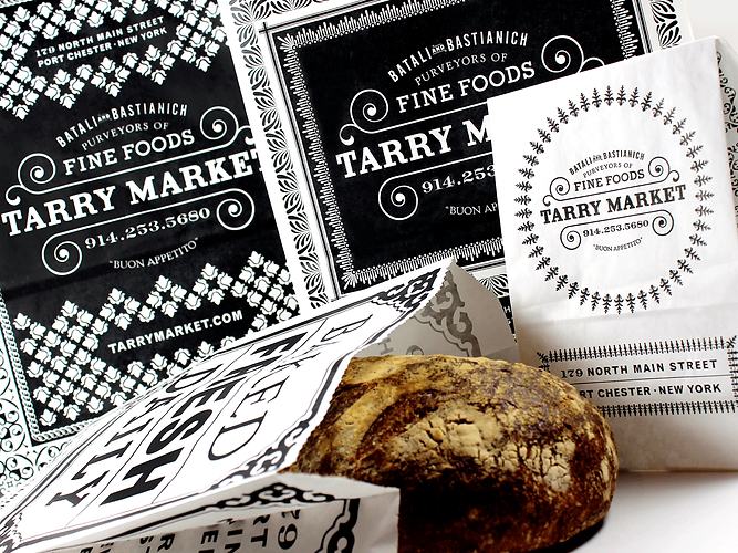 Tarry Market Custom Printed Take-Out Bags by Commonwealth Packaging Co.