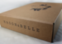 Custom printed E-Commerce packaging, custom printed shipping box for Mason & Belle by Commonwealth Packaging Co.