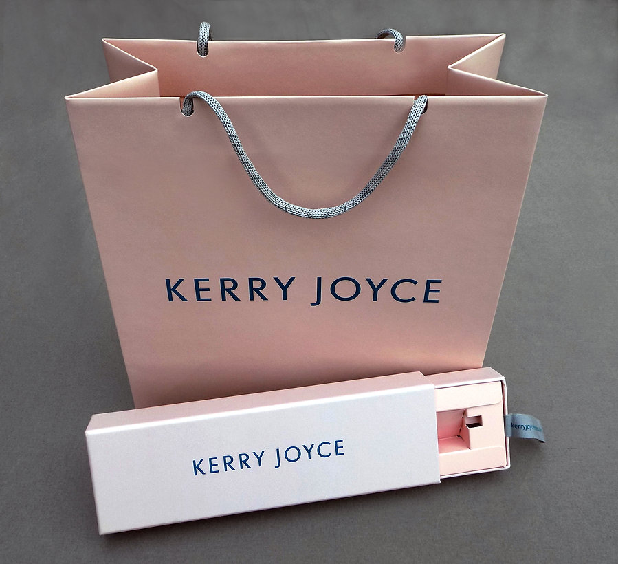 Kerry Joyce Custom Printed Shopping Bag and Specialty Box by Commonwealth Packaging Co.
