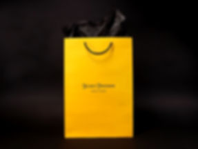 Hickey Freeman custom printed shopping bag, tissue