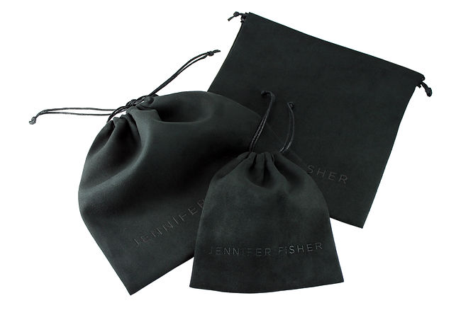 Jennifer Fisher Jewelry Pouches, Custom Packaging by Commonwealth packaging Co.