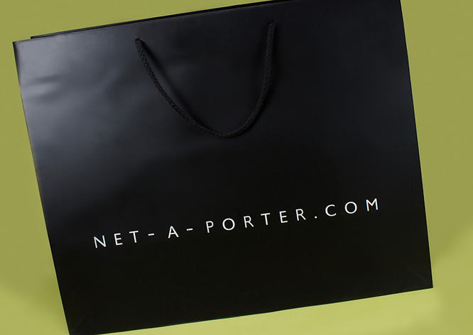 Net-a-porter custom Shopping bag by Commonwealth Packaging Co.