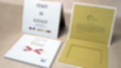 Eataly custom printed gift cards and carriers
