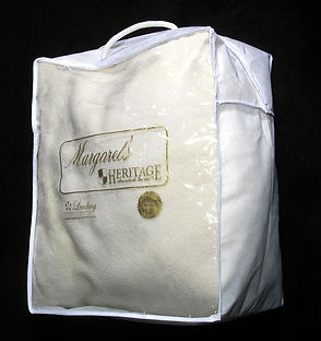 Custom printed drycleaners comforter bag by Commonwealth Packaging Co.