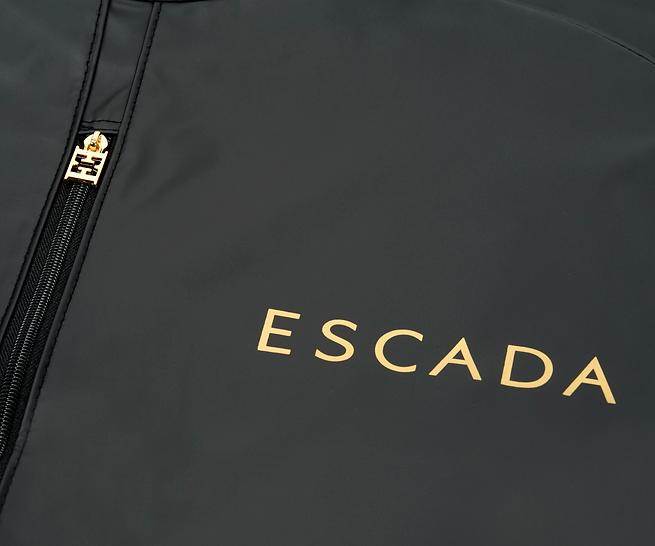 Escada custom printed garment bag by Commonwealth Packaging Co.