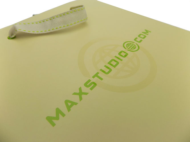 Max Studio Custom printed E-Commerce Packaging, Custom Shopping Bag and Gift Box by Commonwealth Packaging Co.