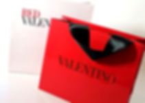 Valentino Custom Shopping Bags by Commonwealth Packaging Co.