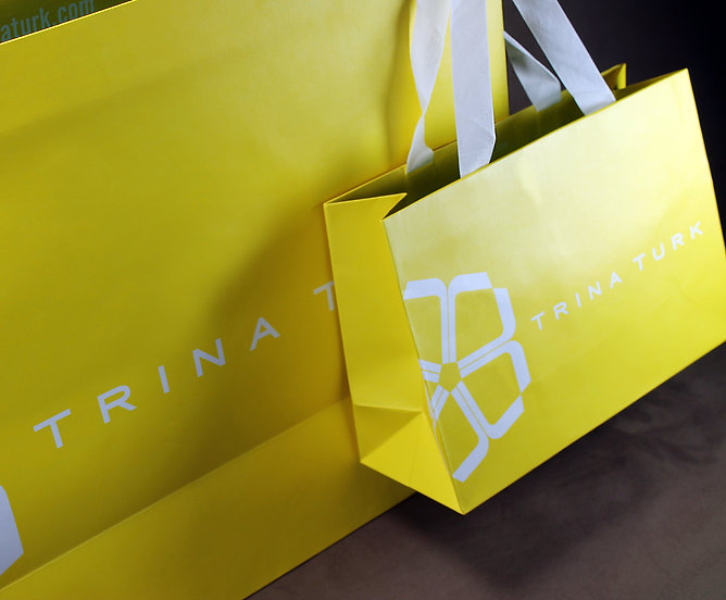 Trina Turk Custom Printed Shopping Bag, Retail Packaging by Commonwealth Packaging Co.