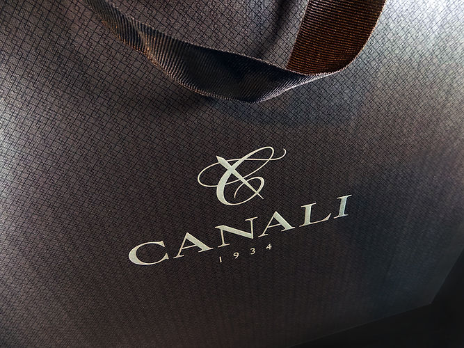 Canali Custom Shopping Bag, Retail Packaging by Commonwealth Packaging Co.