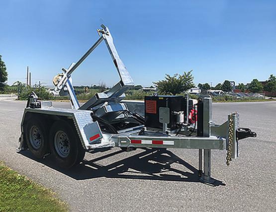 LIFETIME WARRANTY PINLESS POWERLOCK™ SELF-LOADING TURRET TRAILER w/ Hydraulic Rotation