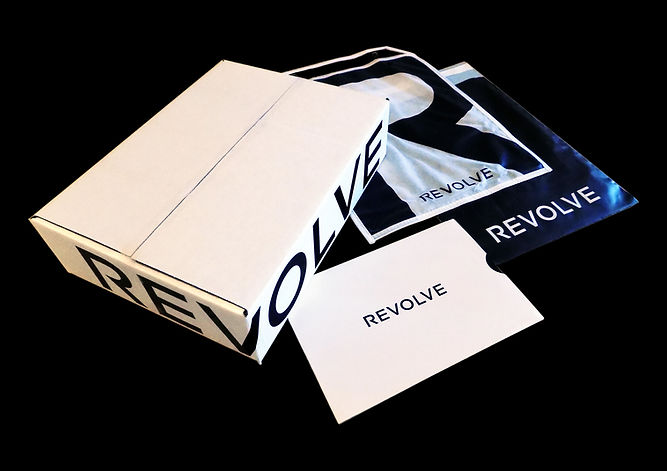 Revolve E-Commerce Shipping box, specialty bags by Commonwealth Packaging Co.