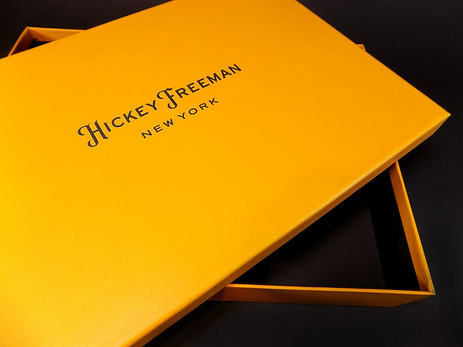 Hickey Freeman custom printed box, Retail Packaging by Commonwealth Packaging Co.