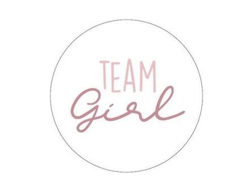 Sticker Team Girl 250 Stück Weiß
