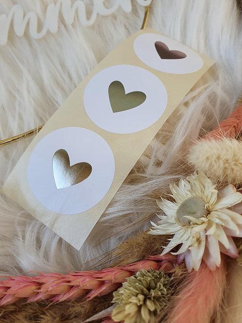 Sticker mit Silber Herz