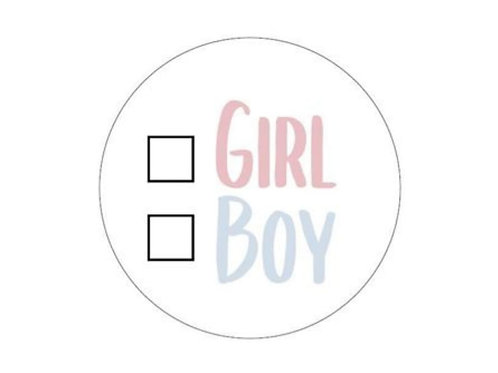 Sticker Girl or Boy zum Ankreuzen 250 Stück