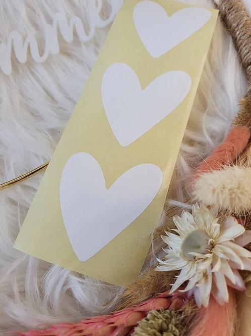 Sticker Herzform Weiß
