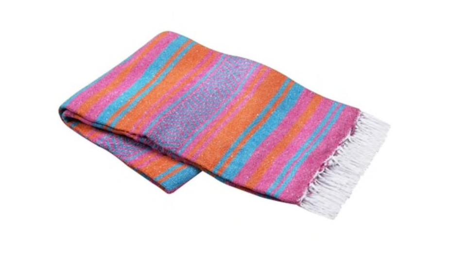 Mexican Yoga Blanket (orange/pink/turqoise)