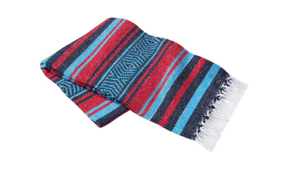 Mexican Yoga Blanket (red/navy/charcoal)