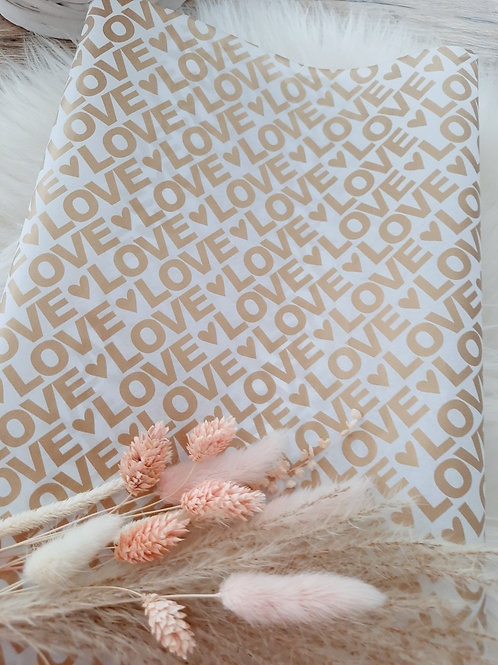 Seidenpapier Love Gold 50x70 cm
