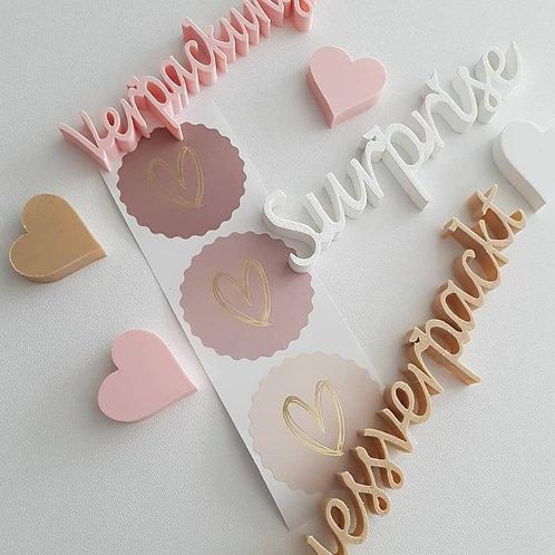 Sticker Herz Gold rosa/nude
