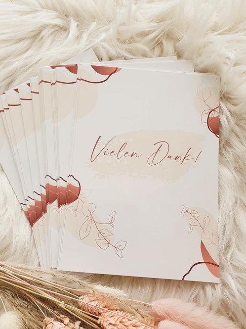 "Postkarten ""Vielen Dank"""