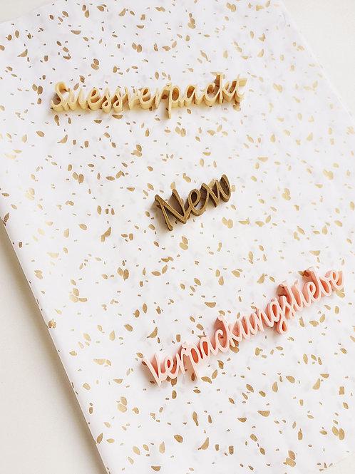 Seidenpapier Goldene Dots