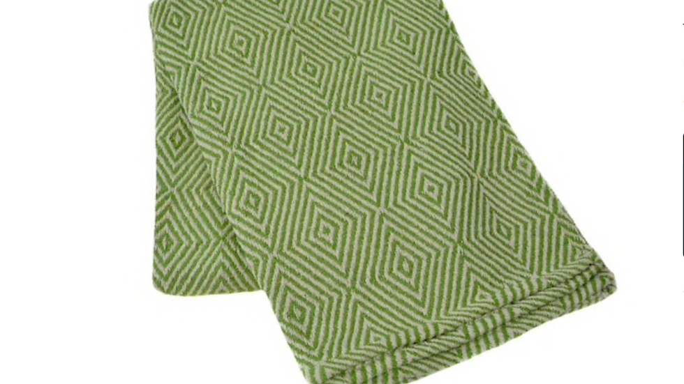 GeoDiamond Weave Cotton Yoga Blanket