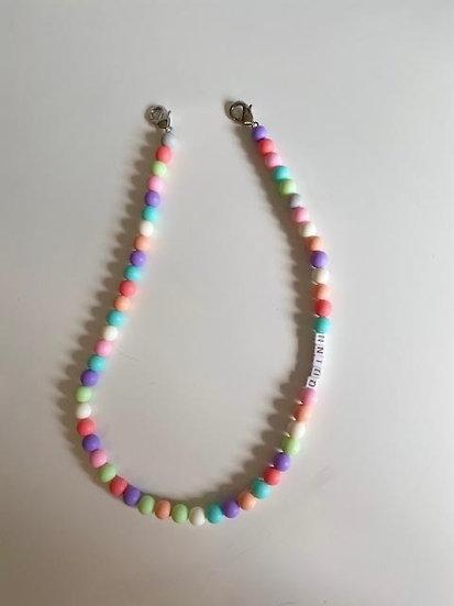 Large bead mask laynard