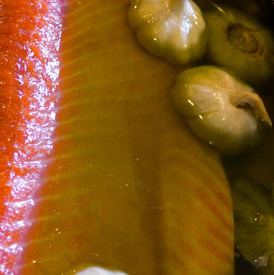 Prepping a Salmon Tartar