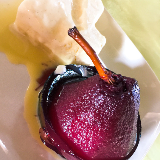 Pears on Vanilla
