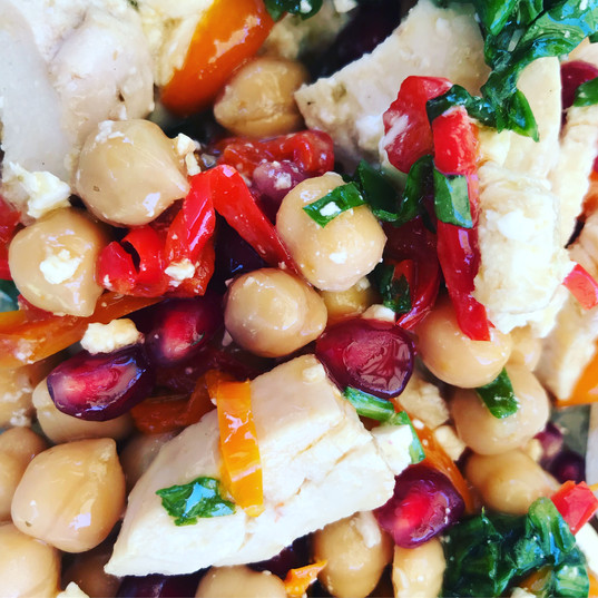 Chickpeas and Peppers