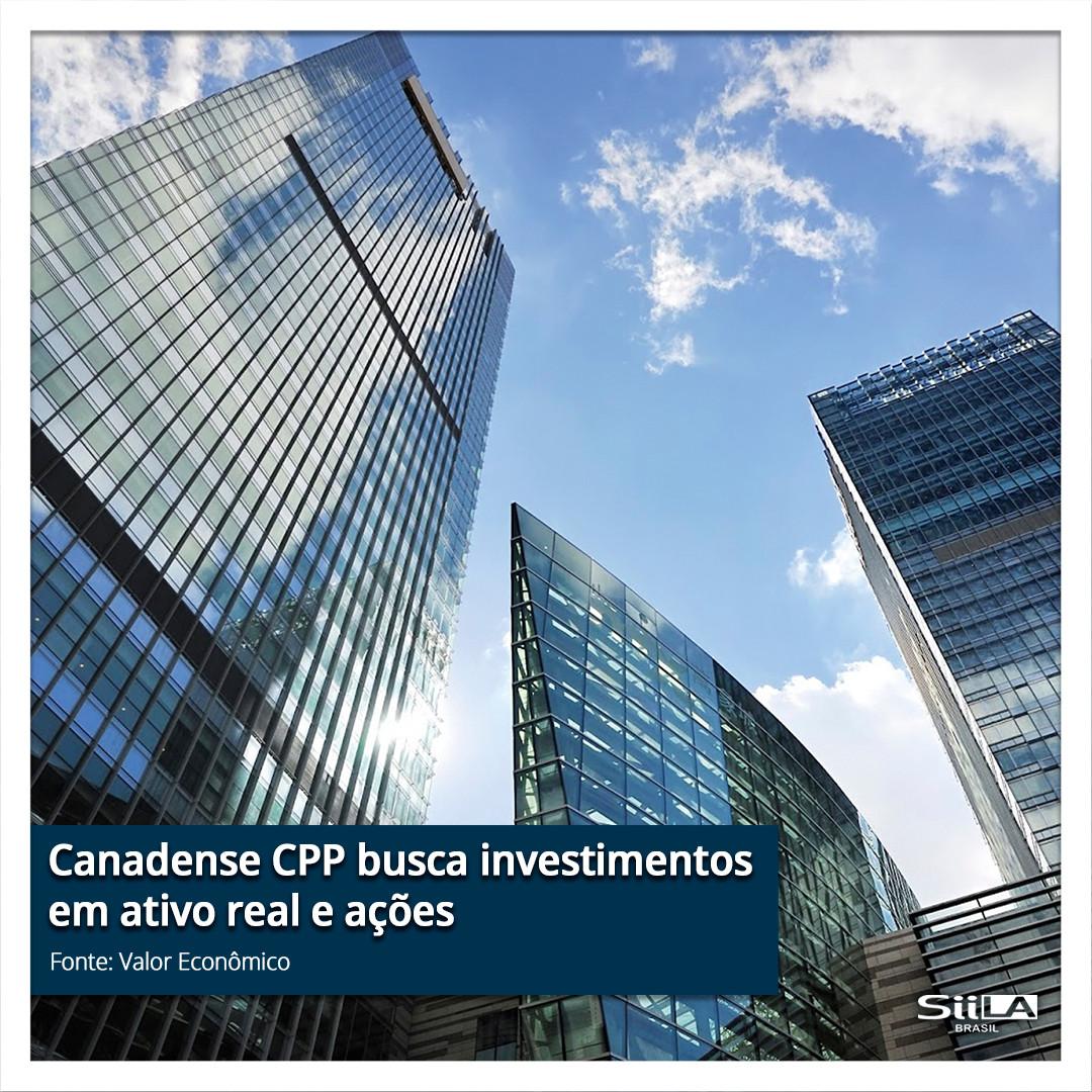 Canadense CPP busca investimentos em ati