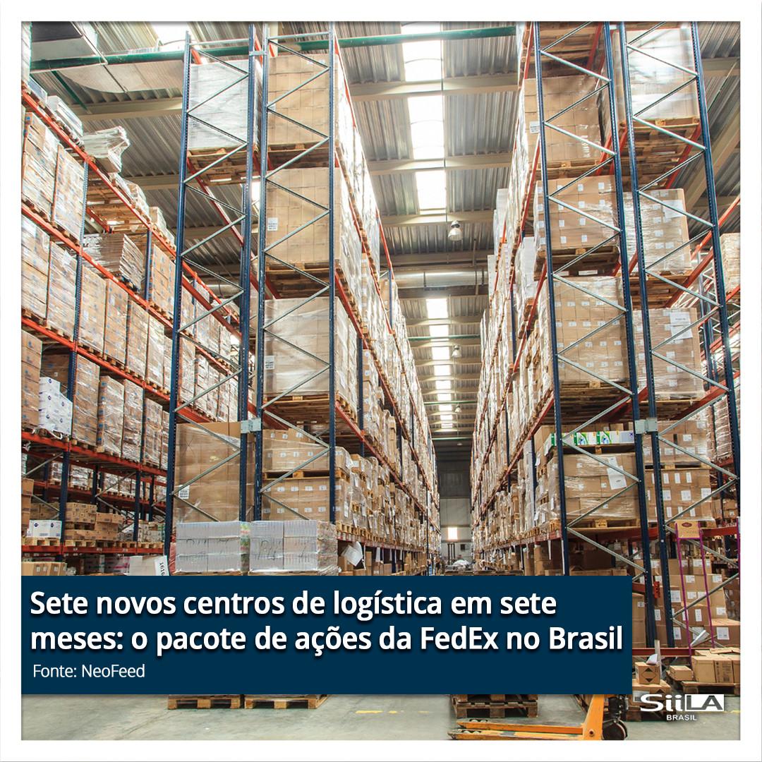 Sete novos centros de logística em sete