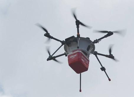 Drones e robôs são treinados para entregas rápidas