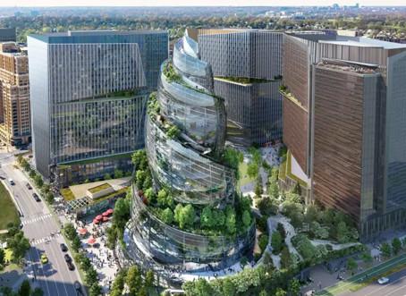 Amazon anuncia nova sede dos Estados Unidos, com arquitetura peculiar