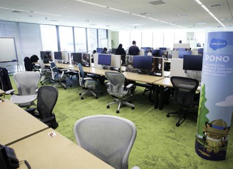 Salesforce adota trabalho flexível e prepara o escritório do futuro
