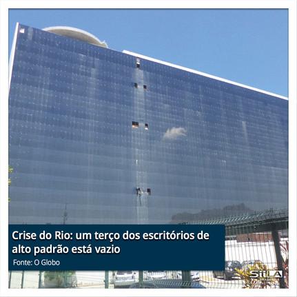 Crise do Rio um terço dos escritórios de